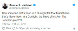 Sam Jackson Tweet