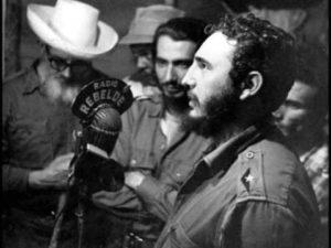 Fidel Castro on the radio