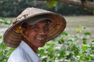 vietnamese farmer smiling